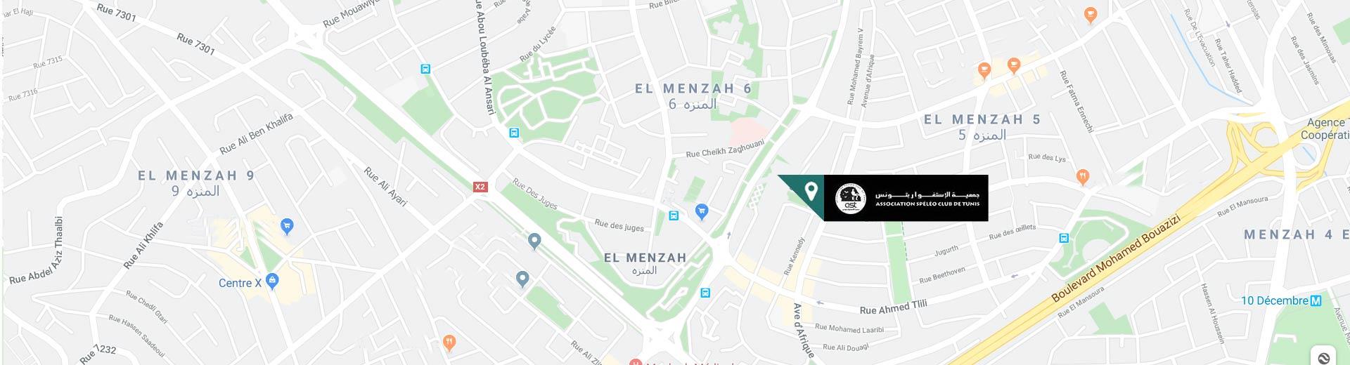 Carte SpeleoClub Tunisie